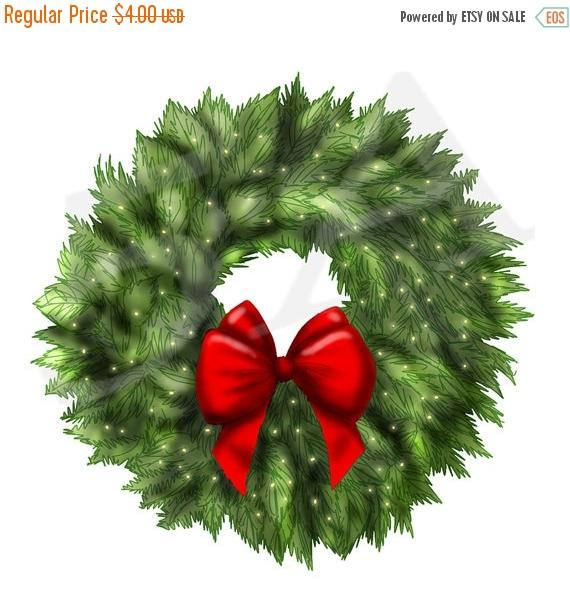 Wreath clipart holiday decoration Clipart  Xmas Wreath 50%