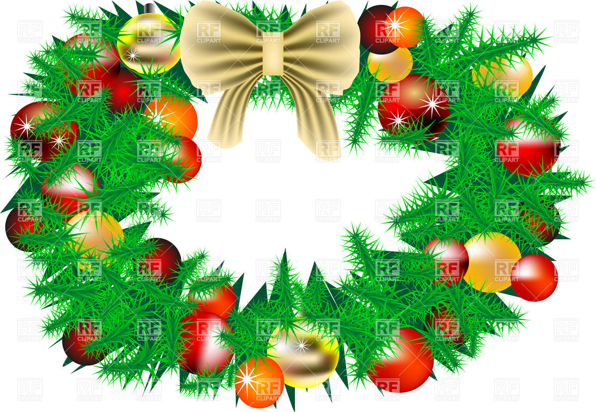 Wreath clipart holiday decoration Cps Clipart Decorations Christmas 25410