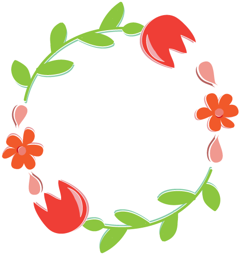 Wreath clipart old pen Free floral blog wreath header