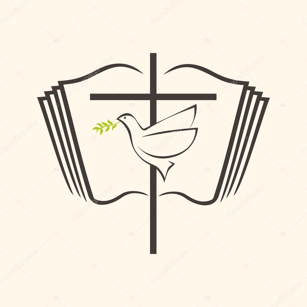 Wreath clipart open bible Holy Bible Open Bible Depositphotos®