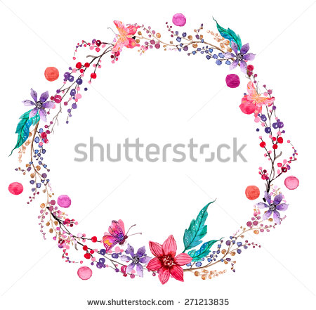 Wreath clipart pastel flower Background wreath for beautiful design