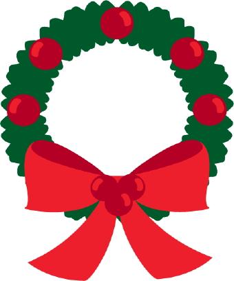 Wreath clipart ribbon Clipart Christmas Clipart Clipart Free