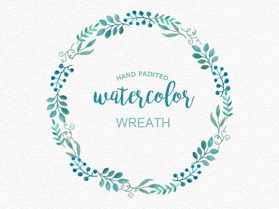 Wreath clipart sage Wreath Watercolor Watercolor Handpainted Flower