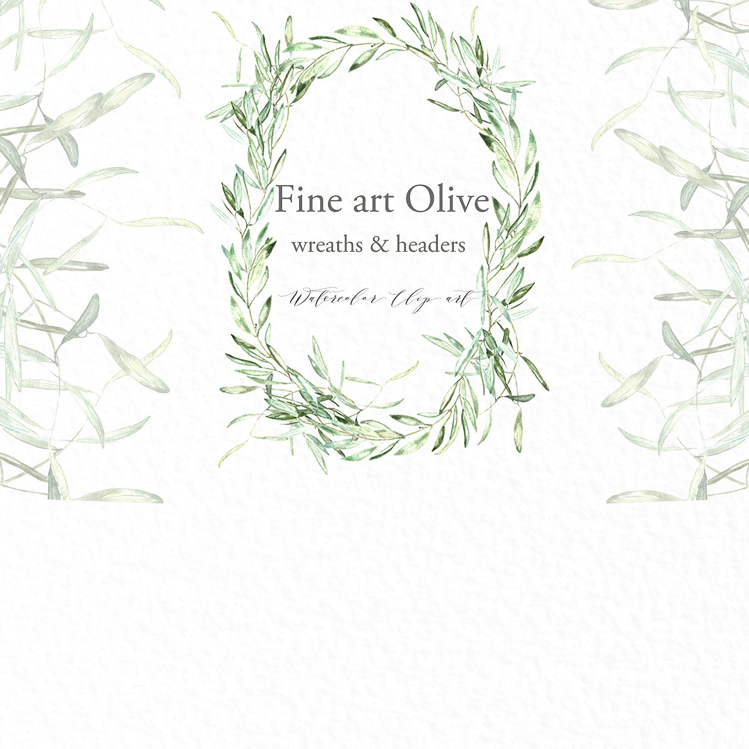 Wreath clipart sage Wreath Sage Olive Fonts clipart