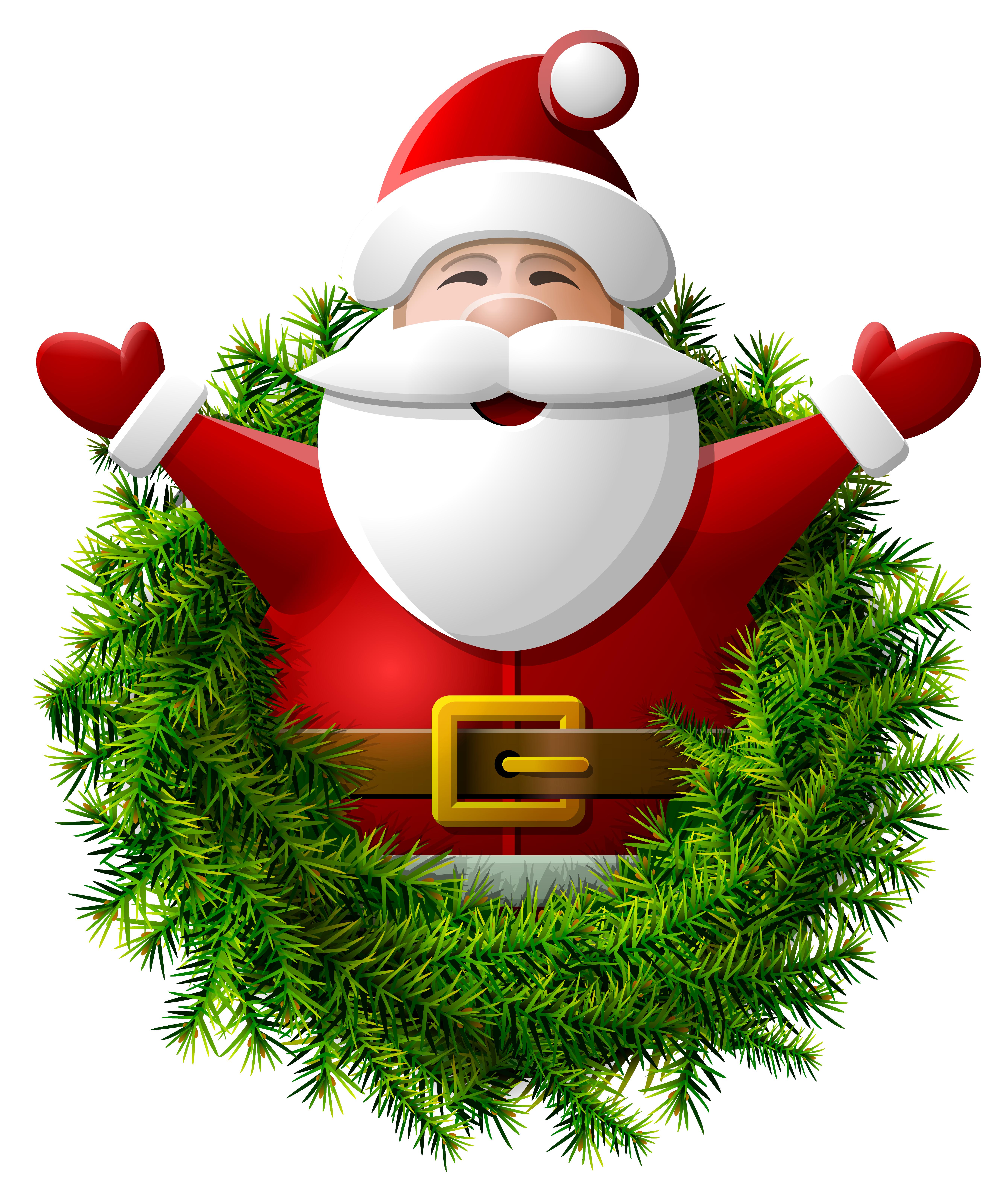 Wreath clipart santa Claus size Yopriceville View Clipart