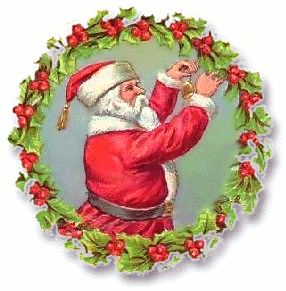 Wreath clipart santa Art Public Wreath Christmas Christmas