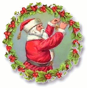 Wreath clipart santa Free Wreath Christmas Free Clipart