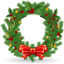 Wreath clipart santa Wreath Enjoy Santa clipart bell