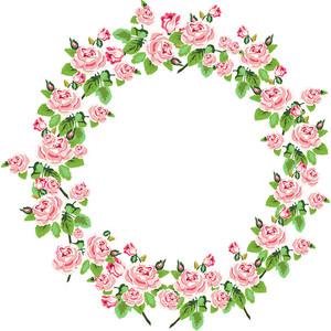 Wreath clipart shabby chic Art Rose Shabby art Chic