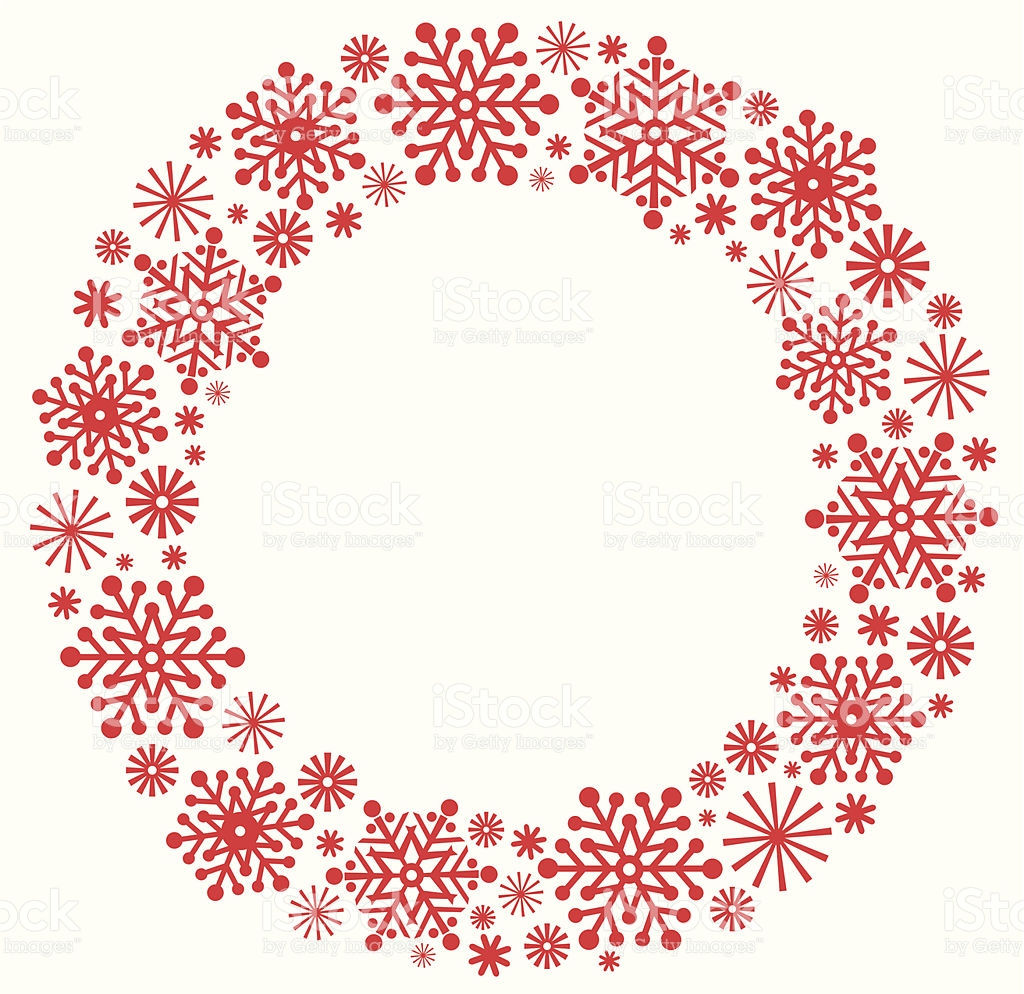 Wreath clipart snowflake Christmas In Christmas Wreath silhouette