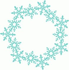 Wreath clipart snowflake Think in with shape this