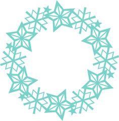 Wreath clipart snowflake This and on Pin art