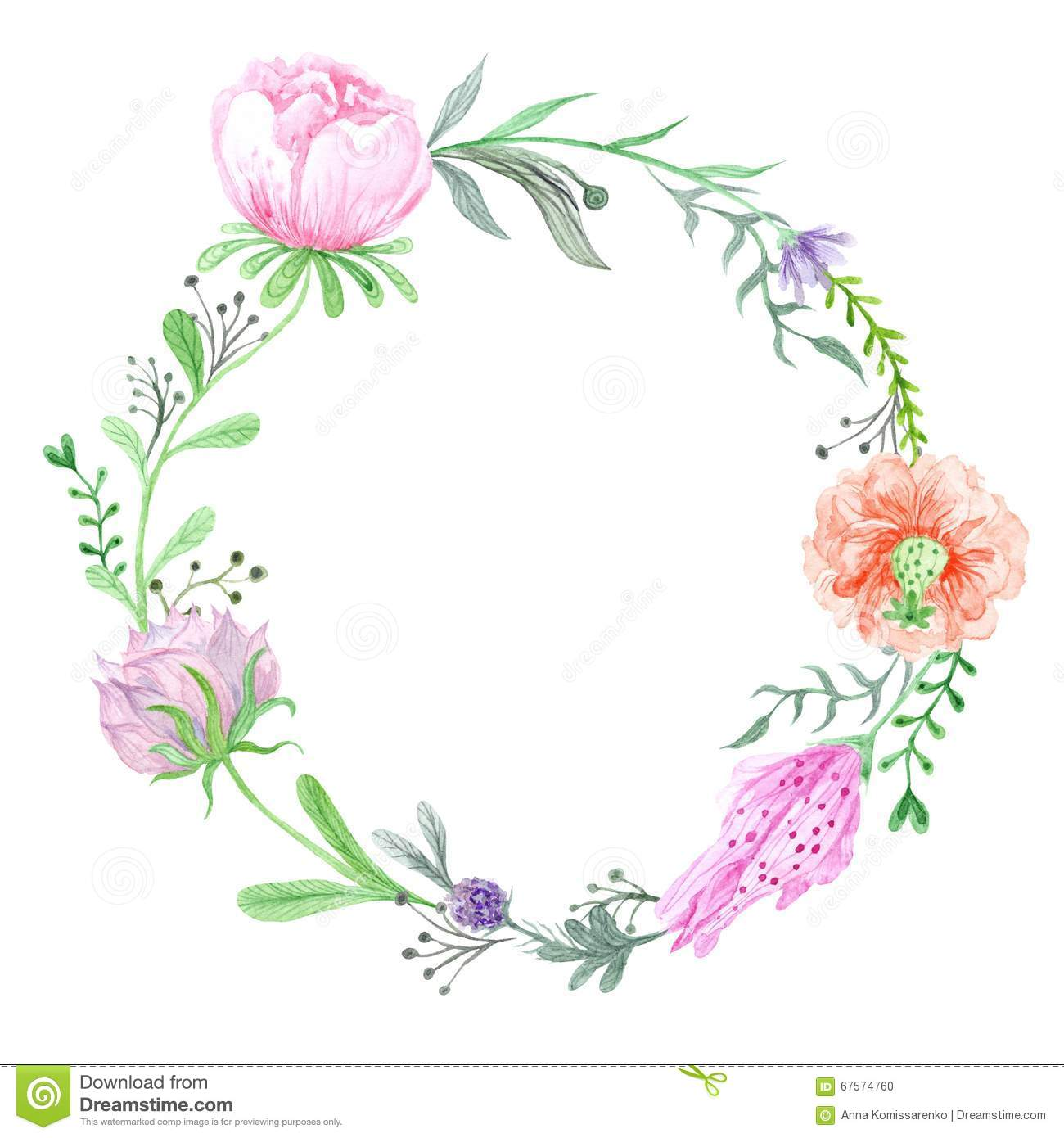 Wreath clipart spring wreath Wreath collection spring Watercolor clipart