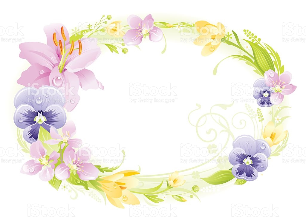Wreath clipart spring wreath Wreath Frame collection spring Easter