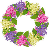 Wreath clipart spring wreath · lilac of Art Flower
