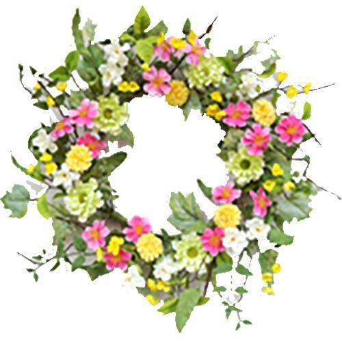 Wreath clipart spring wreath Mix 22