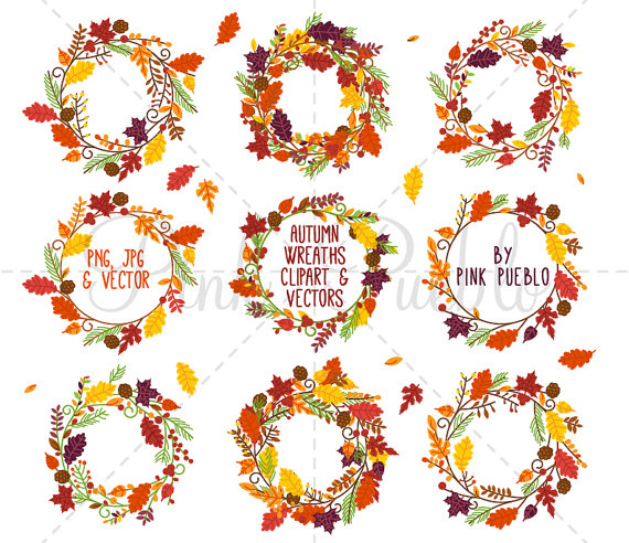Wreath clipart thanksgiving Art Thanksgiving Thanksgiving Clip Thanksgiving
