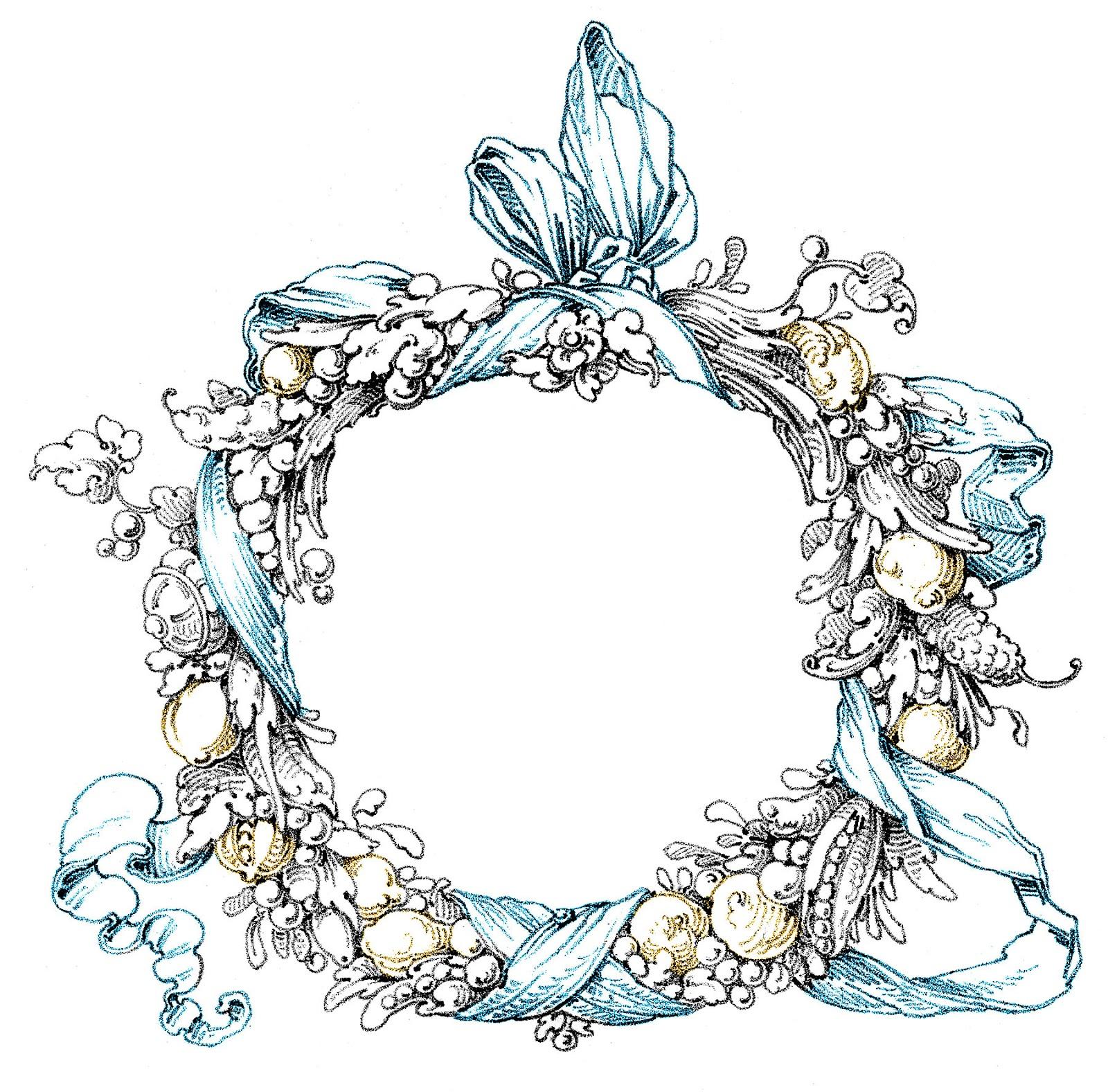 Wreath clipart victorian Art Vintage Fab – –