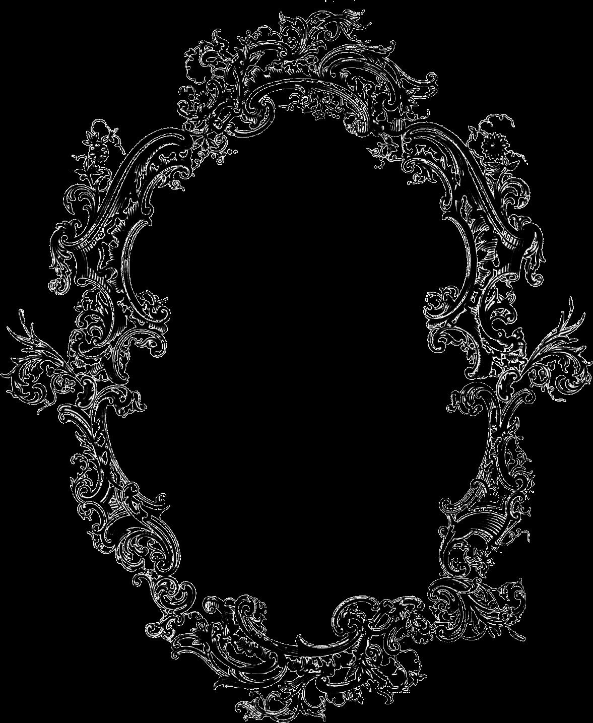 Wreath clipart victorian  Pinterest Frame Filigree Frame