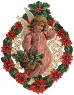 Wreath clipart victorian christmas And Clip Angel Art christmas