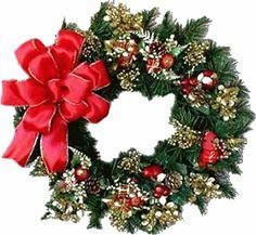 Wreath clipart victorian christmas  Victorian de Wreath couronne