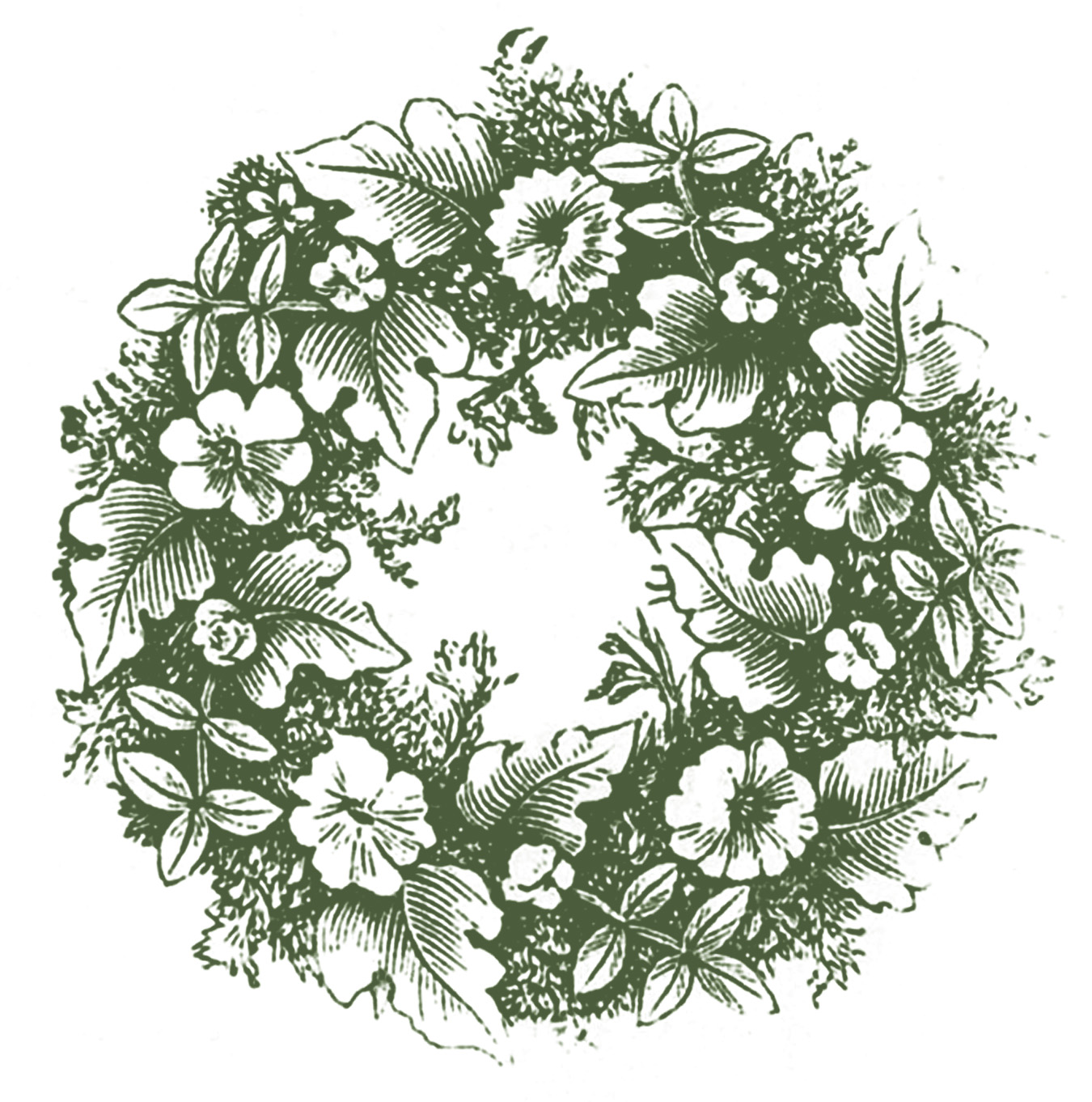 Wreath clipart victorian christmas Graphics black lovely Vintage Wouldn't
