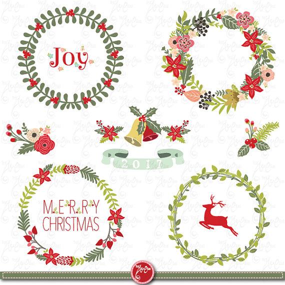 Wreath clipart vintage christmas wreath Wreath wreath similar collection to