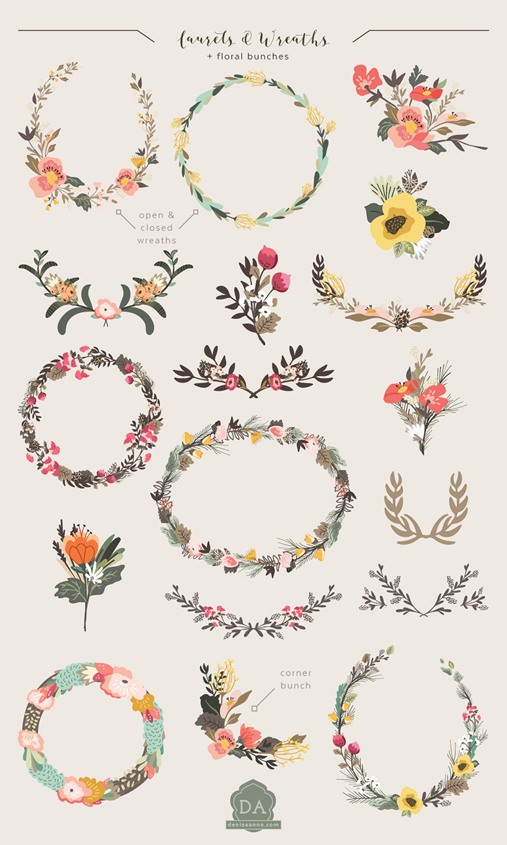Wreath clipart woodland Graphics Woodland Thicket — Thatch