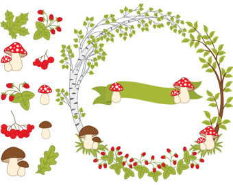 Wreath clipart woodland Forest OFF Autumn Digital Forest