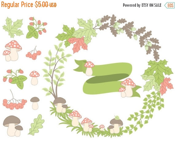 Wreath clipart woodland Forest Forest OFF Autumn