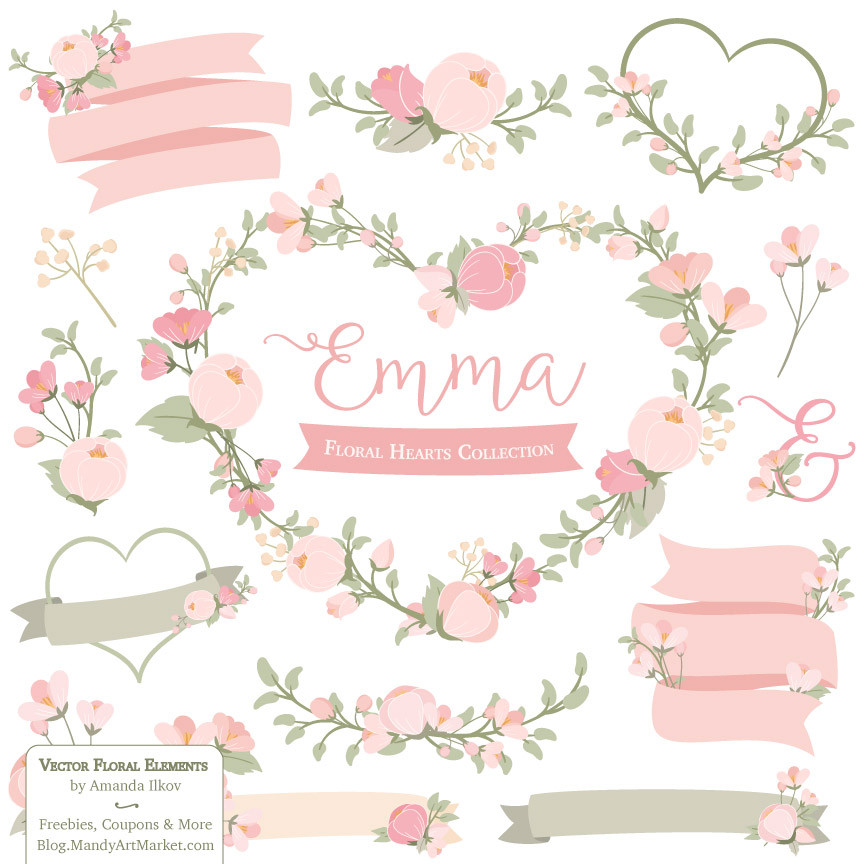 Wreath clipart woodland Cliparts Flower Woodland Vintage of