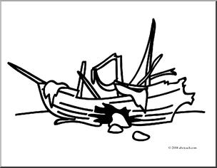 Wreck clipart Art: Clipart Words: Clip Free