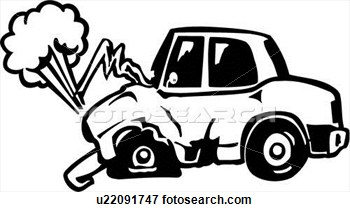 Crash clipart crashed car Center · Clipart Body Retro