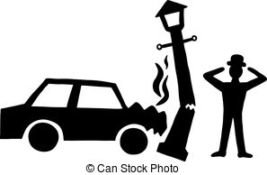 Wreck clipart black and white Accident Black accident Car car