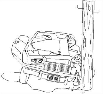 Wreck clipart black and white Car White Resolution  Black