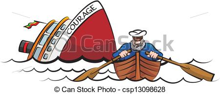 Wreck clipart boat Captain the ship  of