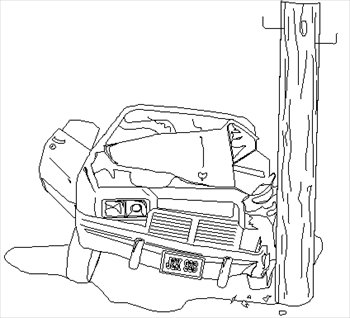 Crash clipart black and white Clipart Car Crash Crash cliparts