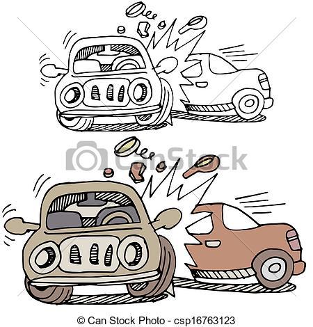 Wreck clipart car collision #9