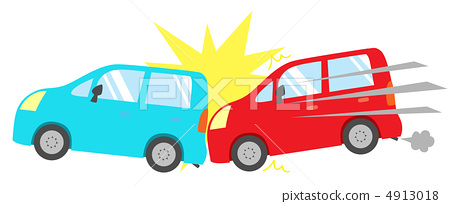 Crash clipart rear end collision End collision Illustration crash