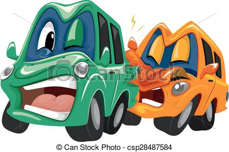 Crash clipart rear end collision Rear end collision Vector in