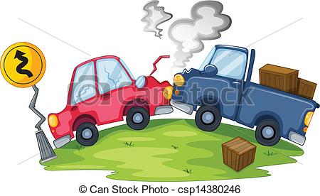 Wreck clipart truck accident #3