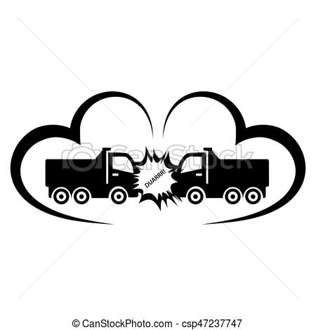 Wreck clipart truck accident #7