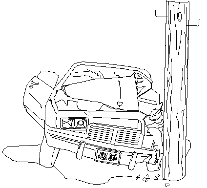 Wreck clipart truck accident #6