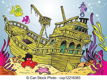 Wreck clipart wrecked ship #1