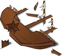 Wreck clipart wrecked ship Crusoe art Wreck clip Zone