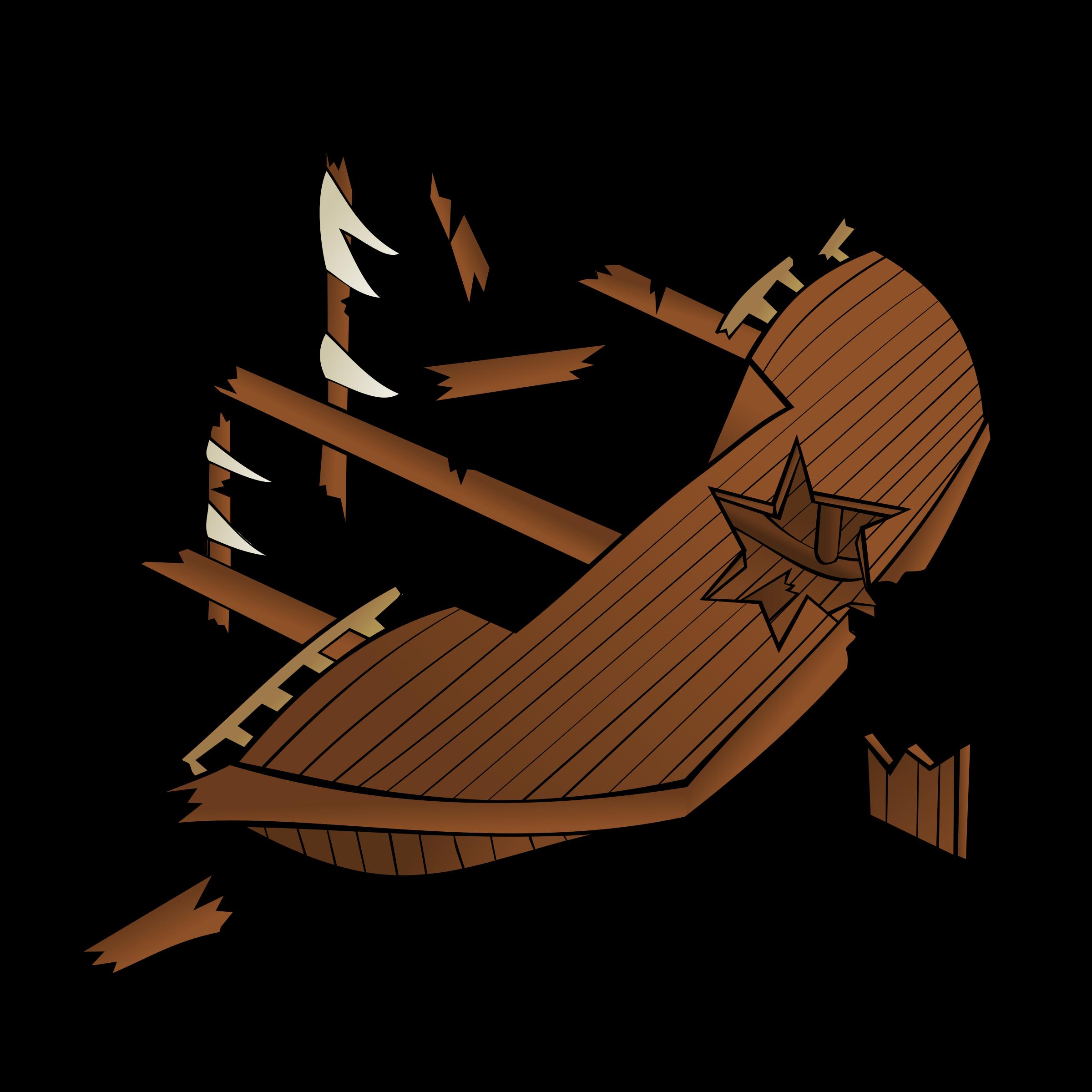 Wreck clipart wrecked ship #8