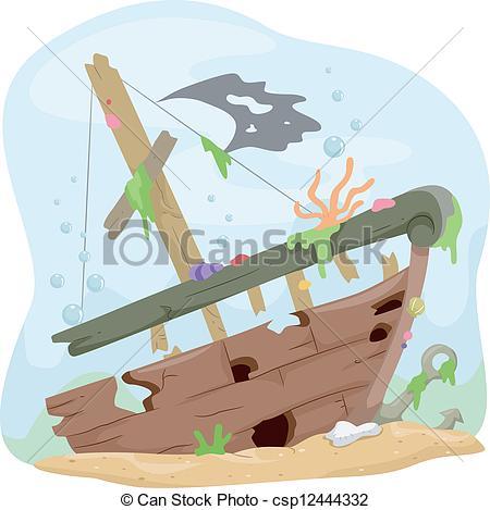Wreck clipart wrecked ship #5