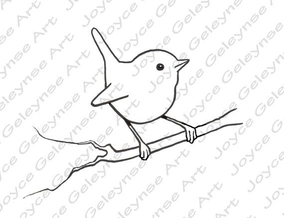Wren clipart Clipart Stamp: Digital Wren Use