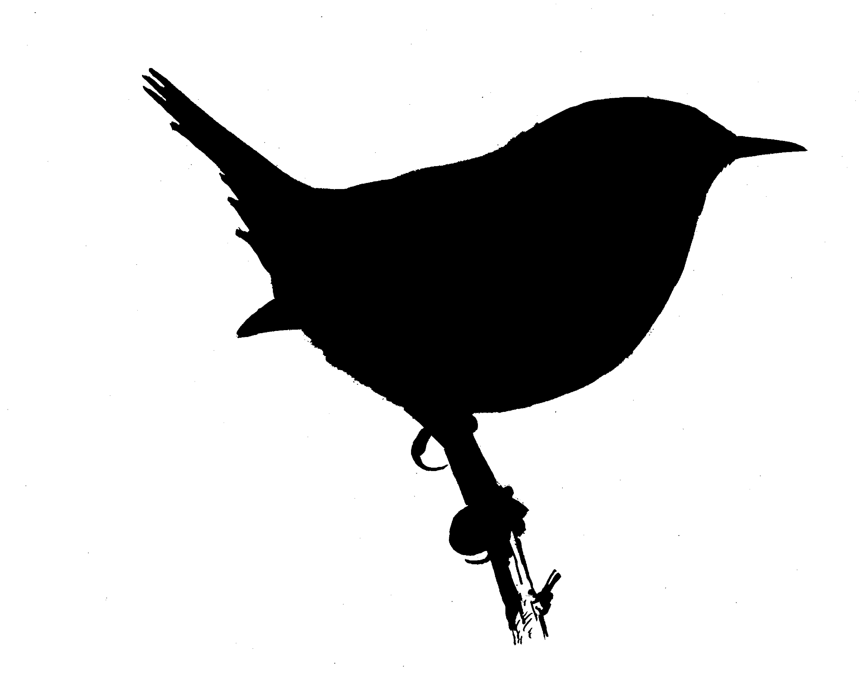 Wren clipart small bird Art Silhouettes Clip Free Silhouette