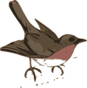 Wren clipart small bird Art Art royalty online Clker